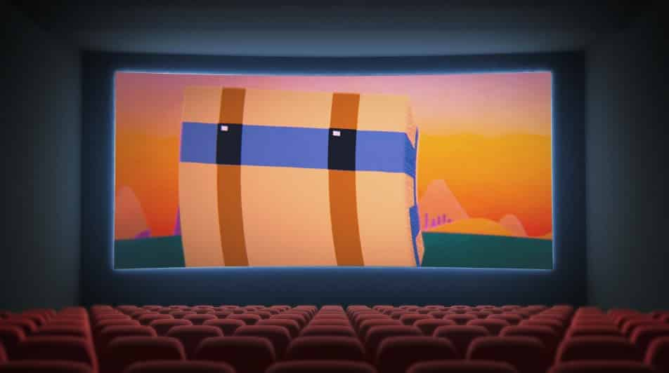 cinema screen with seats