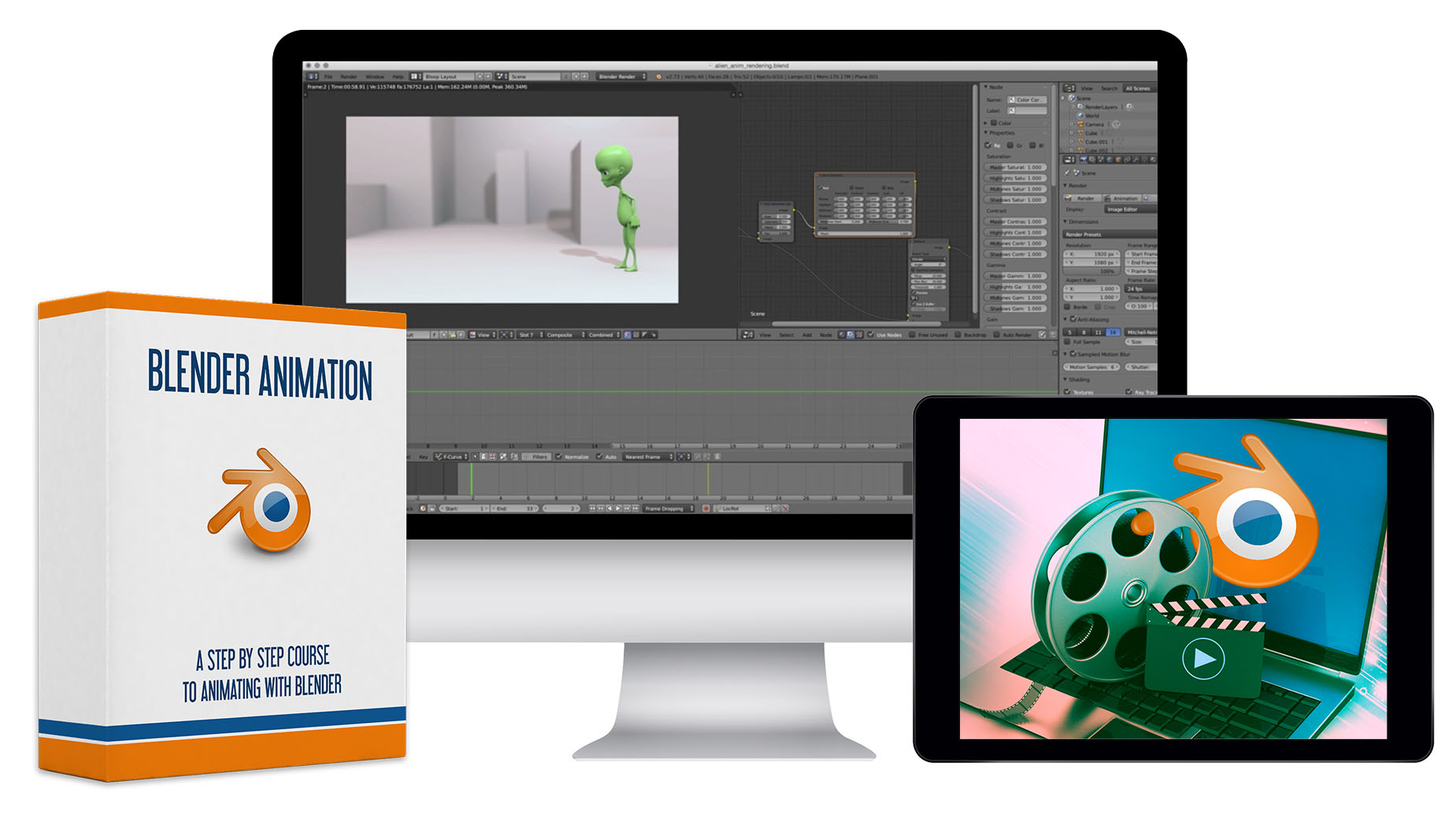 Blender Animation Course - 35 HD Video Lessons